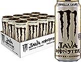 Java Monster Vanilla Light, Coffee + Energy Drink, 15 Ounce (Pack of 12)