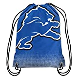 Forever Collectibles NFL Unisex Gradient Drawstring Backpackgradient Drawstring Backpack, Detroit Lions, Standard