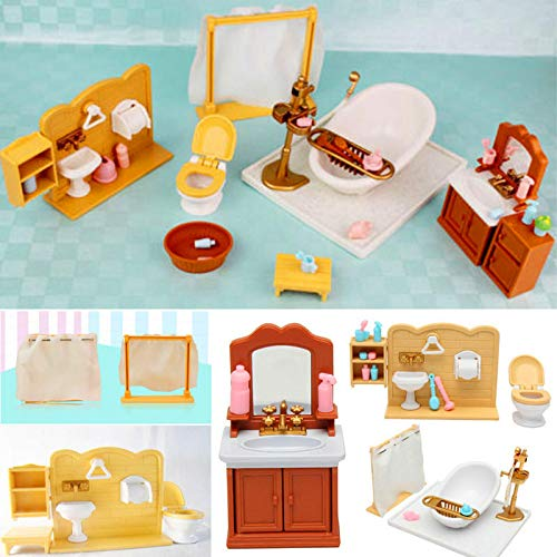 DIY Miniatures Bedroom Bathroom Furniture Sets For Sylvanian Family Dollhouse Accessories Toys Gift - Dolls & Stuffed Toys Doll House & Miniature - 1 X Dollhouse Miniatures Furniture Accessories -