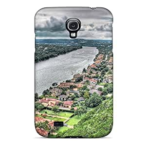 High Grade Dana Lindsey Mendez Flexible Tpu Case For Galaxy S4 - Lovely Mansions On A Riverfront Hdr