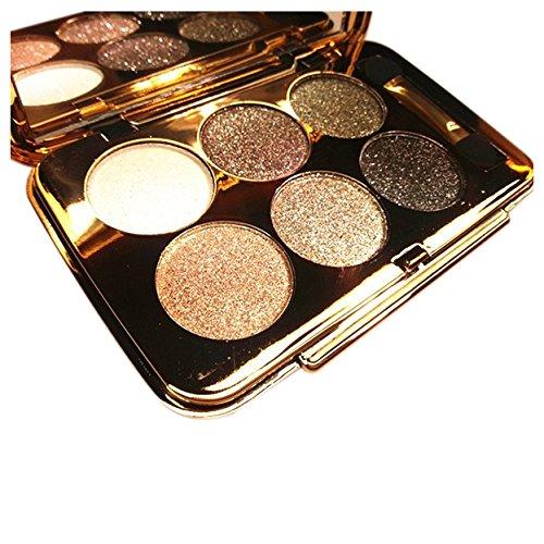 SODIAL(R)women diamond bright colorful makeup eye shadow super make up set flash Glitter eyeshadow palette with brush 4#