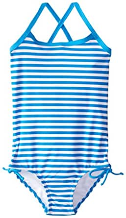 Kanu Surf Little Girls' Toddler Bali One Piece Swimsuit, Blue, 2T