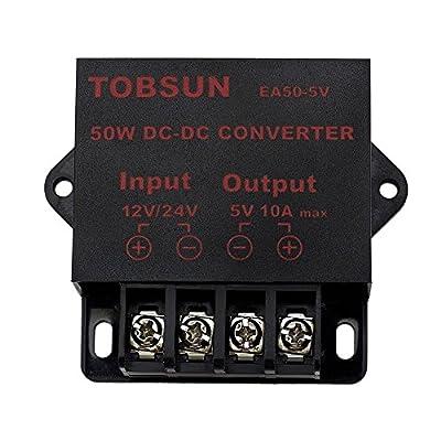EPBOWPT DC 12V 24V to DC 5V 10A, 5V 5A,12V 5A, 10A Power ConverterPower Adapter (12/24V to 5V 10A, 12/24V to 5V 10A Converter): Home Audio & Theater