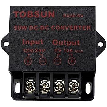 BINZET DC 12V 24V to 5V 10A 50W Converter Step Down Regulator 5V Regulated Power Supplies Transformer Converter