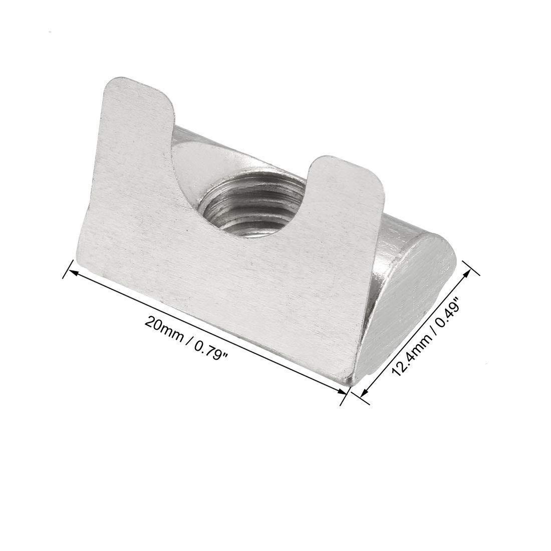 sourcing map Tuercas el/ásticas de rollo m6 para perfil de extrusi/ón de aluminio serie 4040 10 piezas