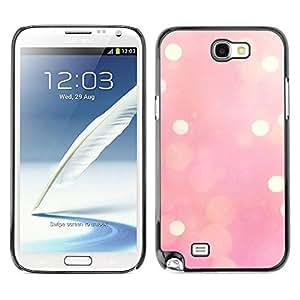 TopCaseStore / la caja del caucho duro de la cubierta de protección de la piel - Blurry Yellow Winter Love - Samsung Galaxy Note 2 N7100