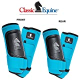 Classic Equine 4 PACK CROSS FIT HORSE LEG BOOT FRONT REAR HIND TURQUOISE - LARGE