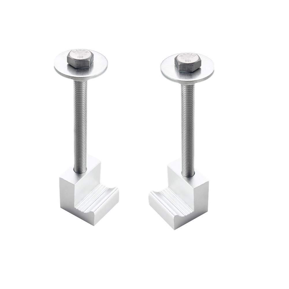 DEWHEL Tool Box Tie Downs Aluminum J Hook Crossover Toolbox Pickup Pair Blue, 4 PCS