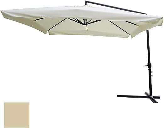 ranieri sombrilla descentralizada 3 X 3 M. Estructura de Acero de jardín Exterior Crudo: Amazon.es: Jardín
