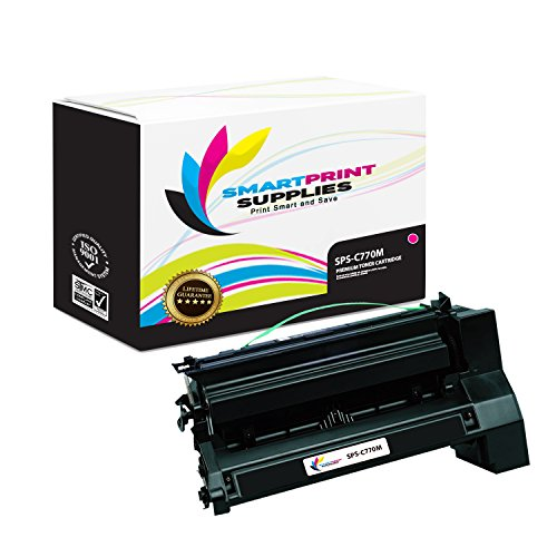 C772 Magenta Cartridge Print - Smart Print Supplies Compatible C770 C7702MH C780H2MG Magenta Extra High Yield Toner Cartridge Replacement for Lexmark C770 C772 C780 C782 X780 X782 Printers (10,000 Pages)