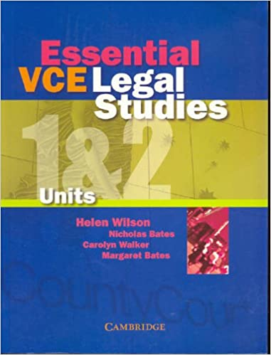 Essential VCE Legal Studies Units 1 and 2 Paperback – August 24, 2005
