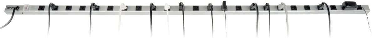 Tripp Lite 24 Outlet Surge Protector Power Strip, 15ft Long Cord, Metal, SS7619-15