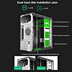 Dilwe-Computer-Case-Vertical-Gaming-PC-Case-USB-20-Ports-4-x-PCI-Expansion-Slot-Mid-Tower-ATX-PC-Case-for-MicroATXMiniITX