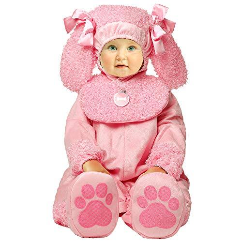 Toddler Baby Infant Cutie Poodle Pink Dog