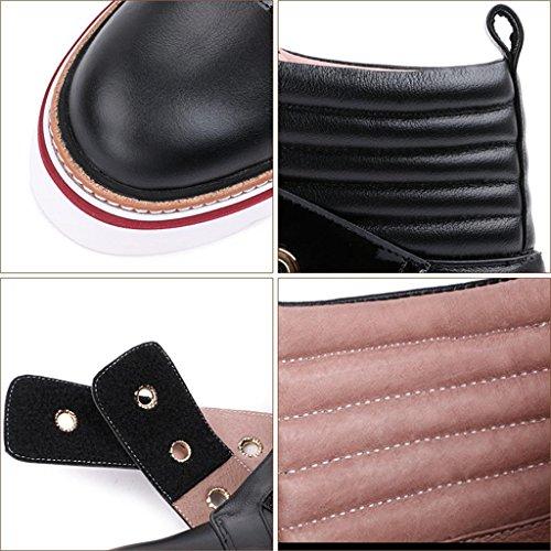 BLACK BLACK 8068FD black negli delle Velcro da donna da da scarpe Aumento 32 36 Stivali donna stivali xnwZqPOR