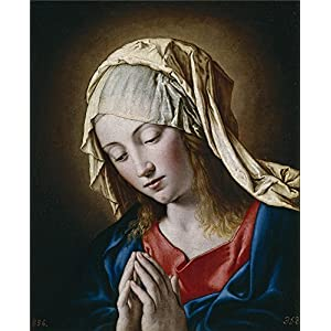 Perfect Effect Canvas ,the Reproductions Art Decorative Canvas Prints Of Oil Painting 'Sassoferrato La Virgen En Meditacion 17 Century ', 10 X 12 Inch / 25 X 31 Cm Is Best For Powder Room Gallery Art And Home Decoration And Gifts