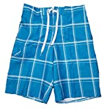 Best Op Mens Swim Suits - OP Blue & White Plaid Eboard At Knee Review