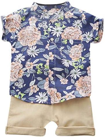 Xuji Camiseta de manga corta con estampado de flores Blusa + Shorts Conjunto de trajes casuales de verano para niños: Amazon.es: Ropa y accesorios