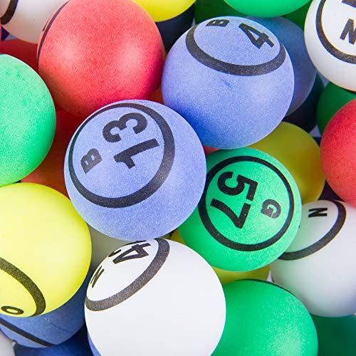 - MR CHIPS Professional Ping Pong Balls/Bingo Balls - Single Number Matte Finish - Multicolor