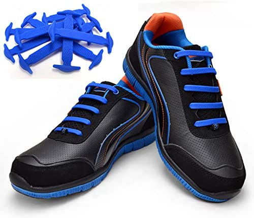 TOTOMO Orange No-Tie Elastic Shoelaces Silicone Tieless Shoe Laces for Hiking