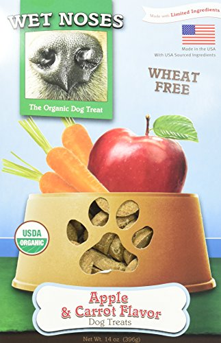 Wet Noses Organic Usa Made All Natural Dog Treats, Apples And Carrots, 3 Pack