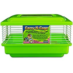 "WARE Green Carry-N-Cage Small Animal Habitat, 11"" L X 9"" W X 7"" H"