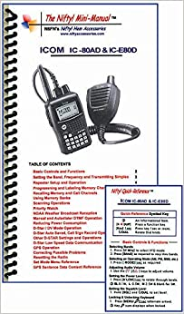 Book Icom IC-80AD & IC-E80D Mini-Manual & Ref Card Combo by Nifty Accessories