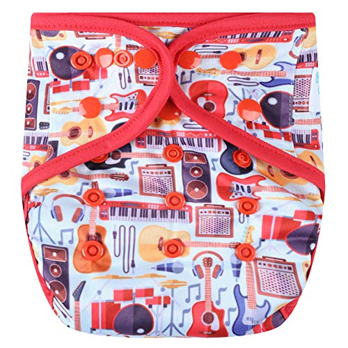 HappyEndingsTM One Size Cloth Diaper Cover AI2 System (Rock On)