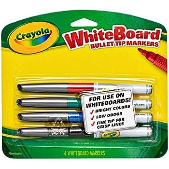 Amazon.com: Crayola Dry Erase Markers (4 Count), Visimax