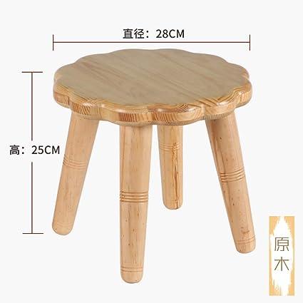 Phenomenal Amazon Com Copper Round Pine Foot Stool Vintage Stripe Alphanode Cool Chair Designs And Ideas Alphanodeonline