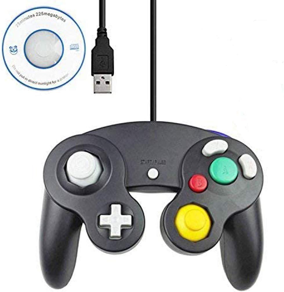 Mekela 5.8-Foot Classic USB Wired NGC Controller Gamepad for Gamecube Windows PC MAC (1 Pack) (Black)