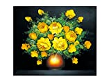 TINMI Arts 5D DIY Diamond Painting Flowers Cross Stitch Kits for Adults Rhinestone Embroidery Home Wall Decoration Not Full Drill Golden Age 27.5×23.6inch(70×60CM) A9553