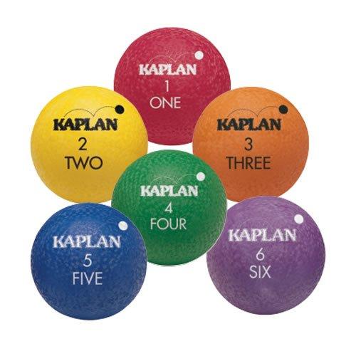 - Kaplan Colored Playground Balls - Set of 6