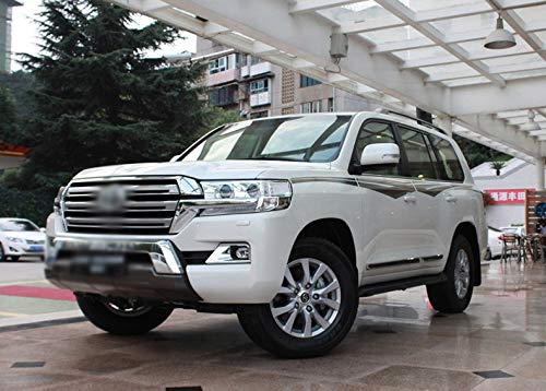 Silver Door Mirror Cover Overlay Trim Chrome Car-Styling 2012 2013 2014 2015 2016 2017 For Toyota Land Cruiser 200 Accessories