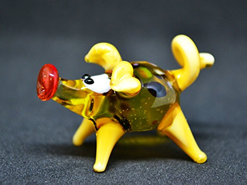 Small glass pig figurine animals glass pig miniature art glass pigs toy murano piggy animals pig figure glass gifts pigs sculptures Christmas (Murano Glass Pig Figurine)