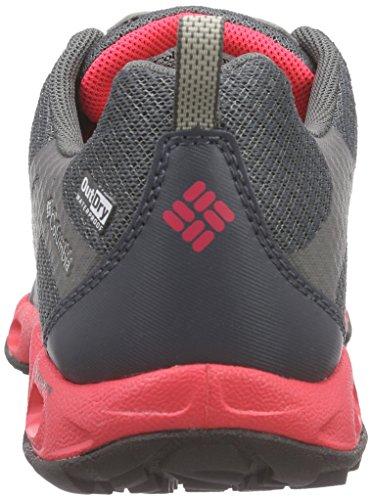 Columbia Ventrailia Outdry - Zapatos de Senderismo para Mujer Gris (Graphite, Laser Red 053)