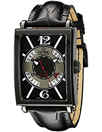 Mens Avenue of Americas Automatic Stainless Steel and Leather Casual Watch, Color: