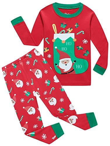 shelry Boys Christmas Pajamas for Girls Santa Sock