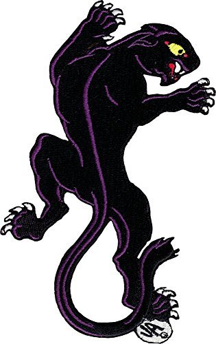 Stalking Black Panther - Right Facing - Embroidered Iron On or Sew On Patch