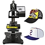 6x8 heat press - V-MACH Heat Press 6x3 Inch Hat Press Swing Away Heat Press for Hats Design Digital LCD Timer Rigid Steel Frame No Stick (6x3Inch Hat Press)