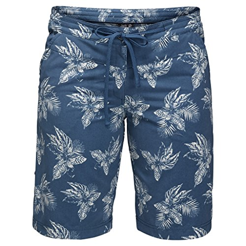 Shorts tropicales de mujer Jack Wolfskin Pomona, Ocean Wave All Over, talla 46 (US 18)