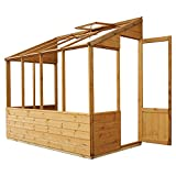 WALTONS EST. 1878 4x8 Wooden Lean-To Greenhouse Growhouse Shiplap T&G Styrene Single Door Garden Building 4ft 8ft Free 3-5 Day Delivery + 10 Year Anti Rot Guarantee from Waltons