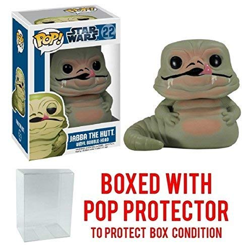 Funko Pop! Star Wars: Jabba the Hutt #22 Vinyl Bobble-Head Figure (Bundled with Pop BOX PROTECTOR CASE) -