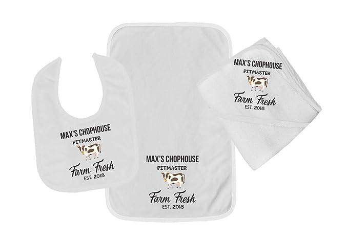 Amazon.com: Conjunto de babero de algodón para bebé ...