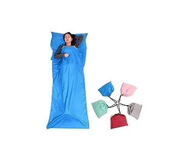 HYSH Ultralight Saco de Dormir Liner con Piel-Friendly Material Hoja de Cama de Viaje portátil al Aire Libre Multifuncional, Blue: Amazon.es: Deportes y ...