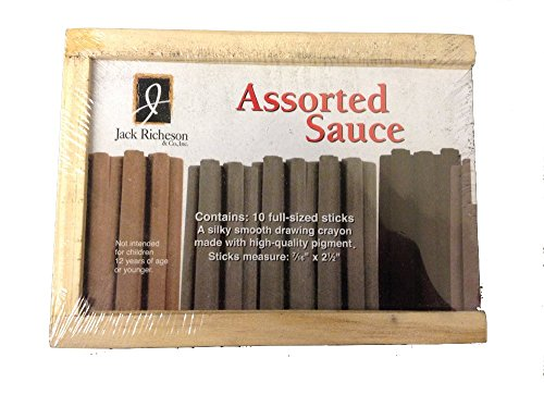 Richeson 10Pc Assorted Sauce Drawing Sticks by Jack Richeson