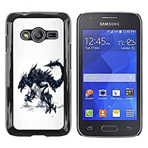 Be Good Phone Accessory // Dura Cáscara cubierta Protectora Caso Carcasa Funda de Protección para Samsung Galaxy Ace 4 G313 SM-G313F // Dragon Monster