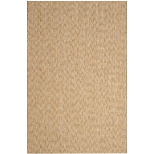(Safavieh Courtyard Collection CY8022-03012 Natural and Cream Indoor/ Outdoor Area Rug (5'3