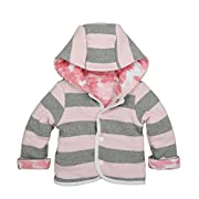 Burt's Bees Baby Baby Organic Snap Front Reversible Jacket, Blossom Canopy, 0-3 Months