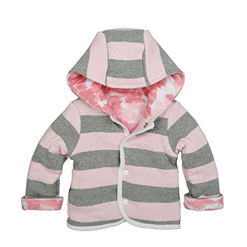 Burt's Bees Baby Baby Organic Snap Front Reversible Jacket, Blossom Canopy, 6-9 Months (Snap Kids Reversible)